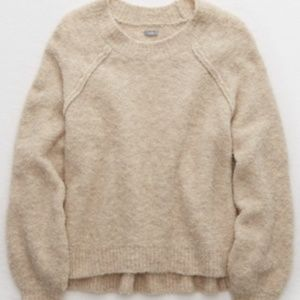Aerie Raglan boucle pullover